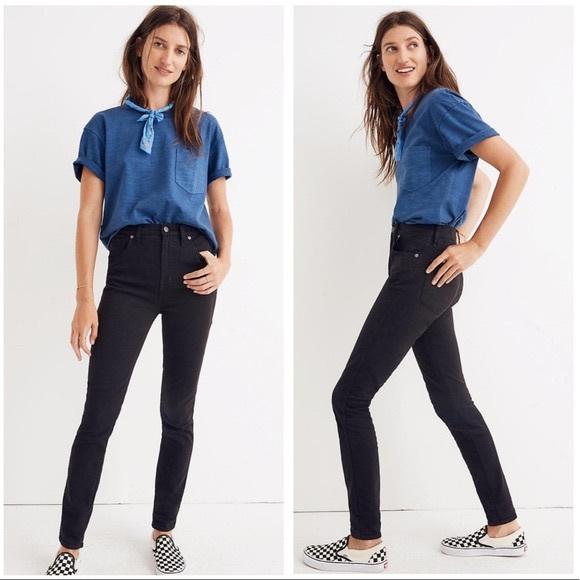 Madewell Denim - Madewell high rise skinny jeans, 27, faded black